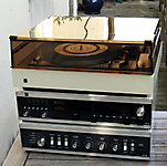 DUAL 1216 Blanche avec ampli et tuner